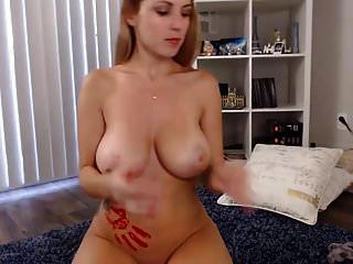 Beauty With Perfect Tits Playing With Paint