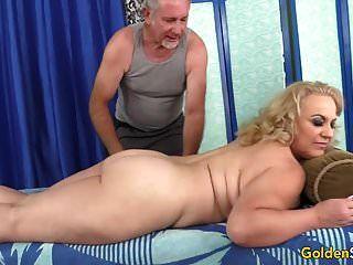 Older Blonde Summer Has Her Body And Genitals Massaged