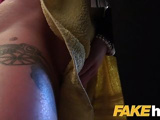 Female Agent Hot Busty Redhead Seduced In Shower And Fucked