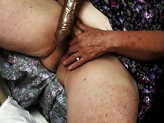 Old Hairy Granny Enjoys Cum