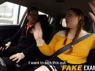 English Bbw Rides Her Driving Instructors Big Fat Cock