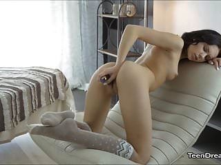 Nora Takes Care Of Herself With A Glass Dildo