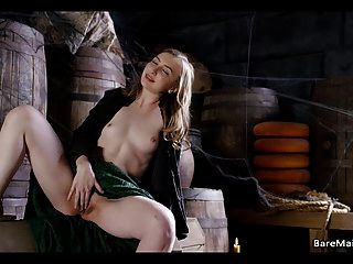 Medieval Maid Caught On In The Pantry - Gracie Green