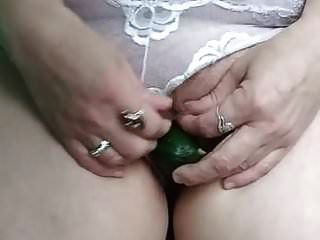 Milf Margarita With Foxtail In Her Ass And Cucumber In Pussy