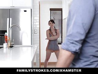 Familystrokes - Asshole Stepbrother Fucks Stepsister Athena