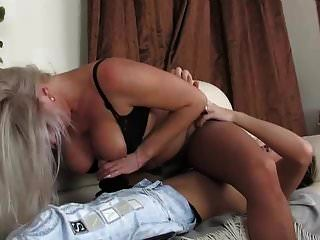 Hot Russian Saggy Tit Granny Looks After Young Guy