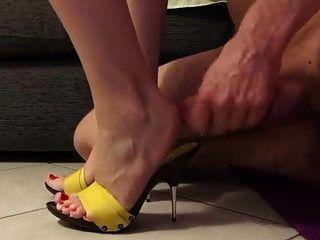 Obedient Slave Cums In Mistress Mules