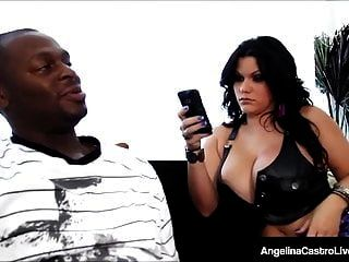 Cuban Bbw Angelina Castro Rammed By A Big Black Cock!