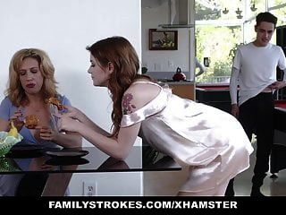 Familystrokes - Stepsiblings Gets Caught Fucking By Stepmom