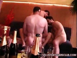 Velvet Swingers Club Redhead Milf Banged By 10 Guys Da Club