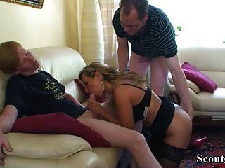 German Step Son And Friend Seduce Mom To Get First Fuck