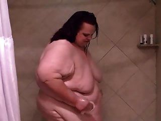 Morbidly Obese Chick Showers