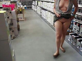 Lady Shows Off At A Diy Store