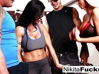 Nikita Von James Joins A Workout Orgy