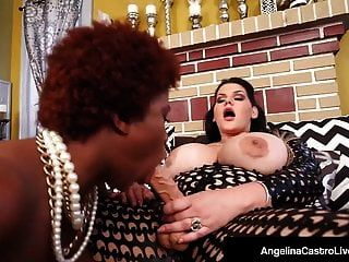 Cuban Princess Of Porn Angelina Castro Fucks Ebony Maserati!