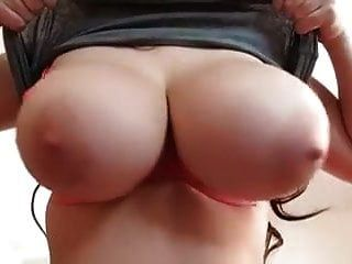 Slim Slut Lets Her Big Tits Flop And Bounce Out Of Her Bra