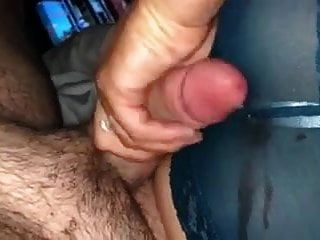 Wife Stroke My Dick, I Cum On Her Lace Panties Ass Handjob