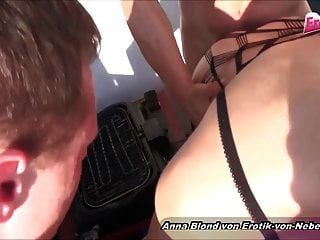 Blond German Catsuit Bitch Private Threesome In Holyday Mmf