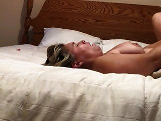 White Wife Gets Fucked By Man While Hubby At Work