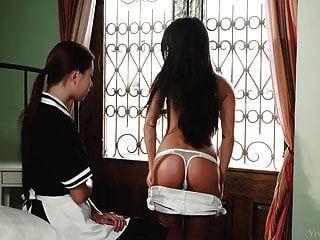 Housemaid Paula Shy And Her Lesbian Mistress
