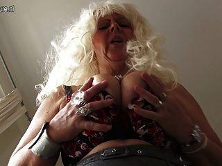 Mamá hijo borracho escalera porno