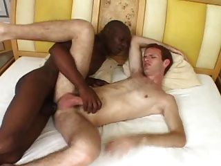 Guy loves sucking big black dick