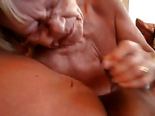 jerking off in front of granny