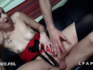 Busty moms fondling breast