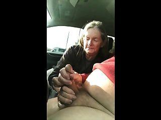 Granny Suck In Car